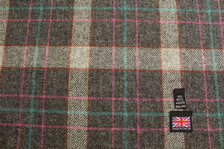 100% Pure New Wool Shetland Tweed Plaid Fabric BZ98